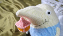 The cutest knitted game characters you'll ever see.