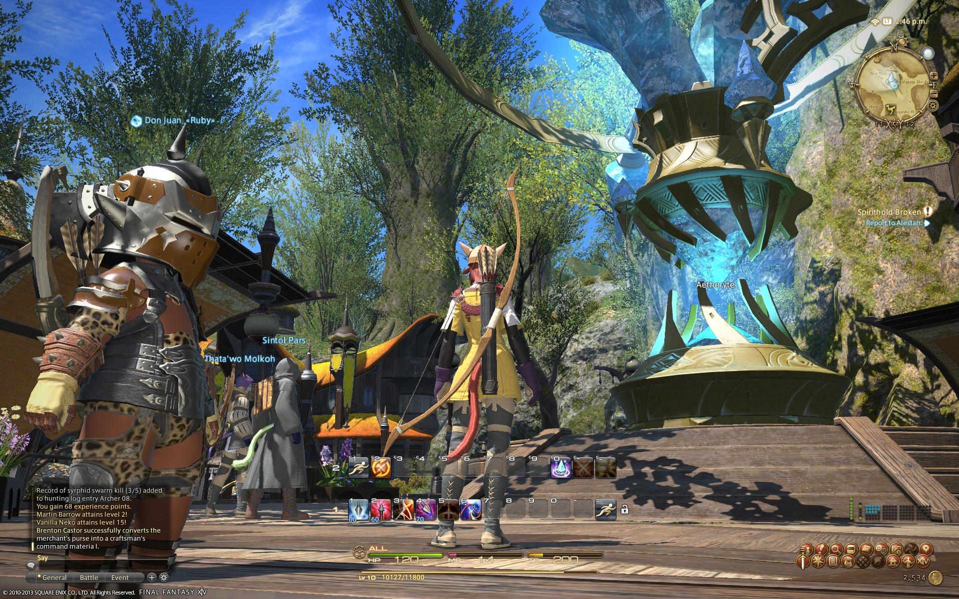 Final Fantasy XIV: A Realm Reborn Battle System | Rice Digital