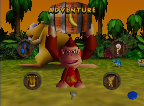 Menu donkey kong 64 review