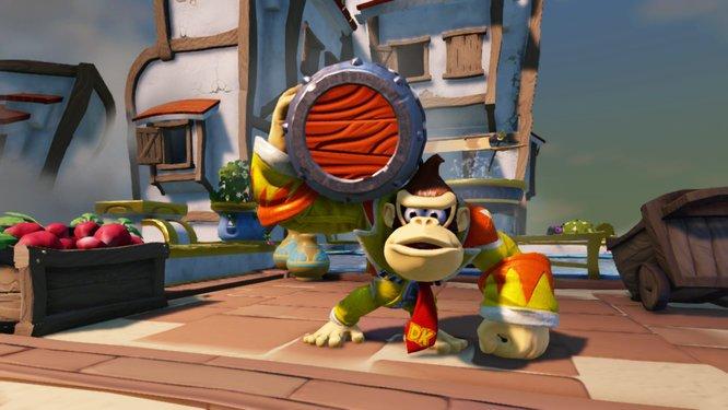 WiiU_SkylandersSuperChargers_screenshot_Donkey_Kong_6large Skylanders SuperChargers Preview