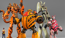 Winne The Pooh Robots – Giant Japanese Pooh Robots