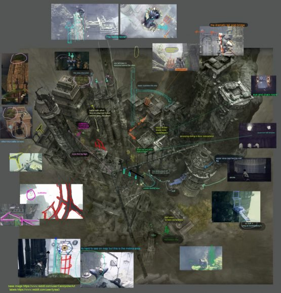 The Last Guardian Map Created By Fans 1