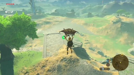 The Legend of Zelda: Breath of the Wild Review (Switch) Paraglider