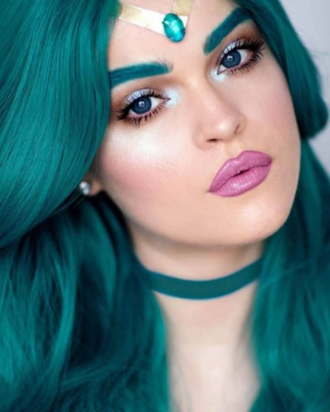7 - Sailor Moon Make Up - Sailor Neptune