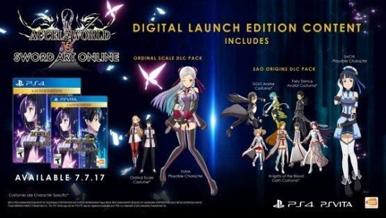accel world vs sword art online release