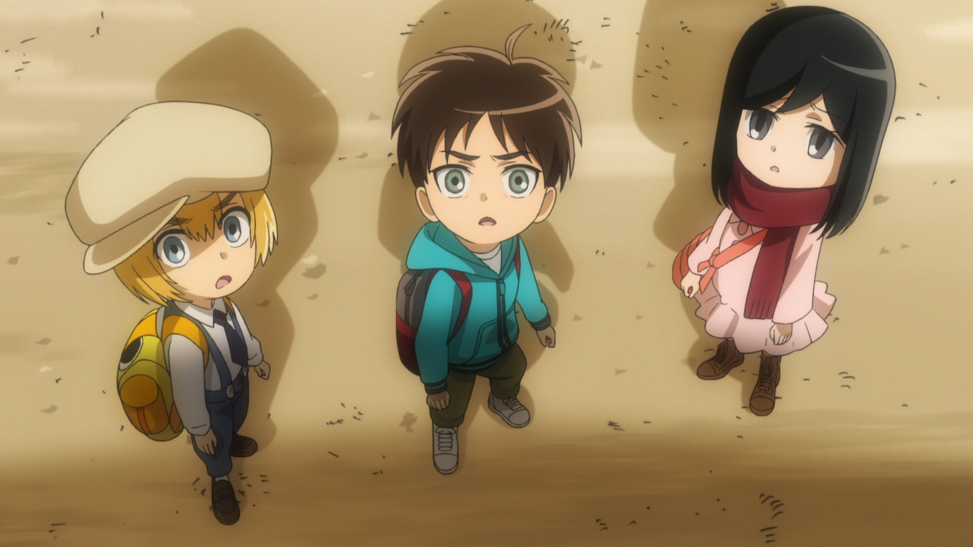 Junior High will slap a goofy grin on your face. Attack on Titan: ...