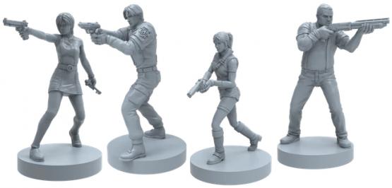 Resident Evil 2 The Board Game Kickstarter - Player Models