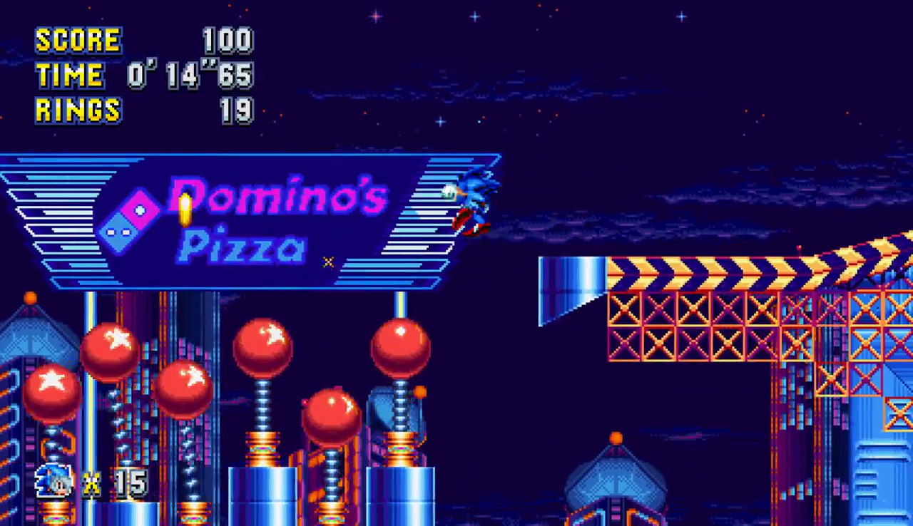 Sonic Mania & Miku's Dominopolis Zone Looks Incredible