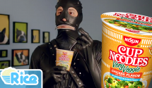 Weird Official Gimp Cup Noodle Ad for Crunchy Very Veggie Range