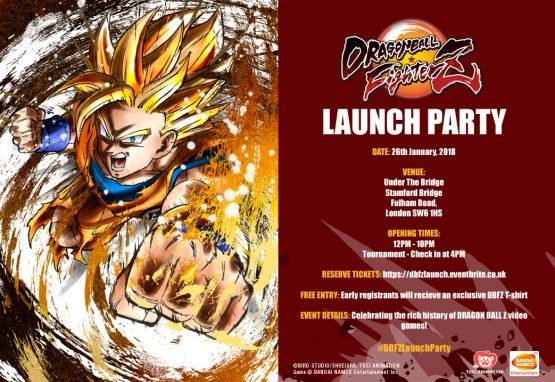 dragon ball fighterz launch event