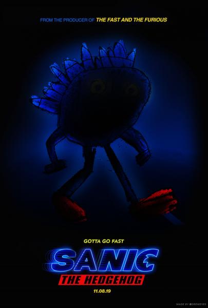 sanic movie poster gotta go fast