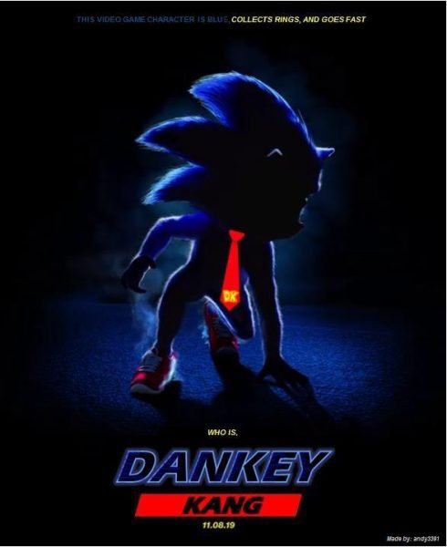 sonic movie poster dankey