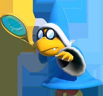 Kamek in Mario Tennis Aces art