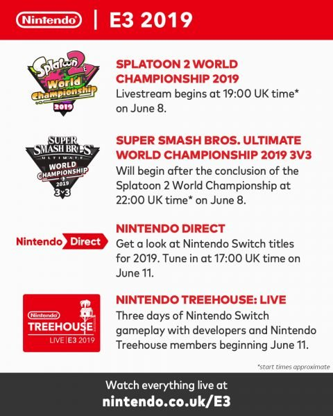 Nintendo E3 2019 Schedule Nintendo E3 2019 Showing Revealed, Including Nintendo Direct