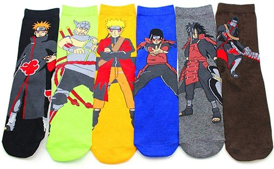 anime gift ideas Naruto socks