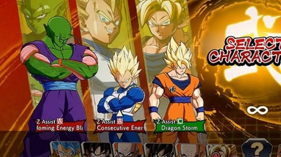 dragonball fighterz z assist select