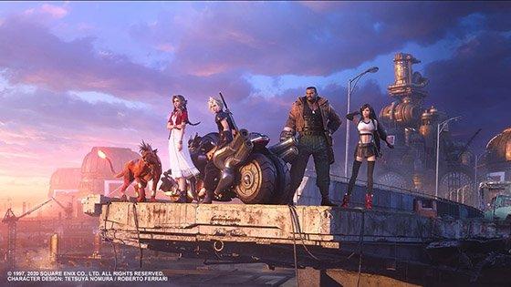 final fantasy VII remake key visual